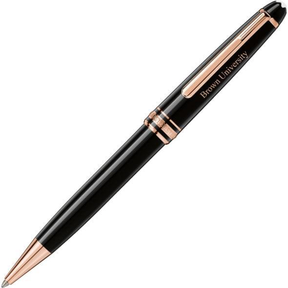 Brown University Montblanc Meisterstück Classique Ballpoint Pen in Red Gold