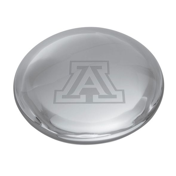 University of Arizona Glass Dome Paperweight by Simon Pearce - Image 2