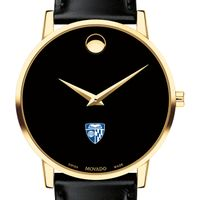 Johns Hopkins University Men's Movado Gold Museum Classic Leather