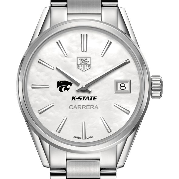 Kansas State University Women's TAG Heuer Steel Carrera with MOP Dial