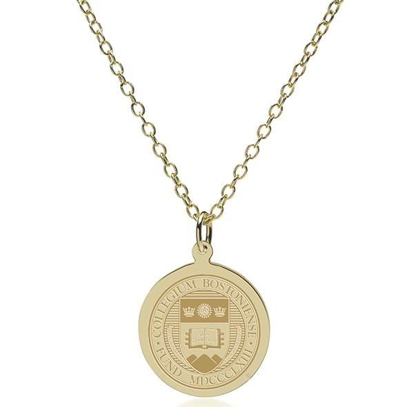 Boston College 14K Gold Pendant & Chain - Image 2
