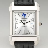 Air Force Men's Collegiate Watch with Leather Strap