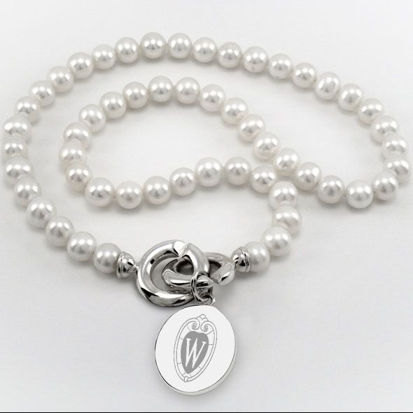 Wisconsin Pearl Necklace with Sterling Silver Charm