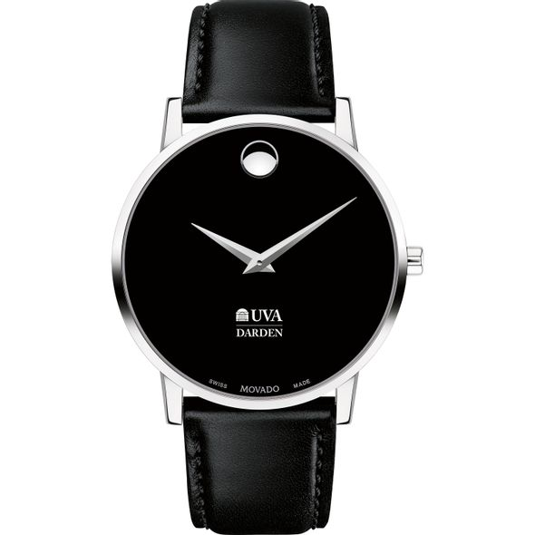 UVA Darden Men's Movado Museum with Leather Strap - Image 2