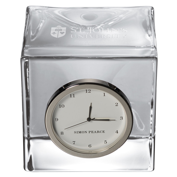 St. John's Glass Desk Clock by Simon Pearce - Image 2