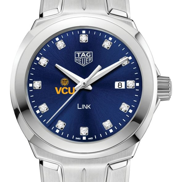 Virginia Commonwealth University Women's TAG Heuer Link with Blue Diamond Dial