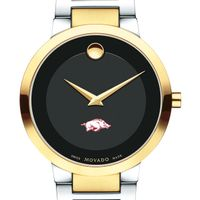 University of Arkansas Men's Movado Two-Tone Modern Classic Museum with Bracelet