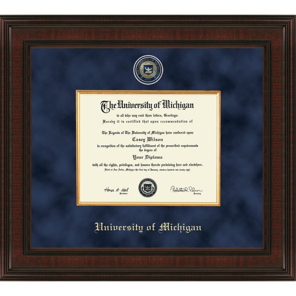 Michigan Excelsior PhD Diploma Frame