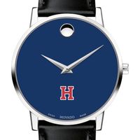 Harvard University Men's Movado Museum with Blue Dial & Leather Strap