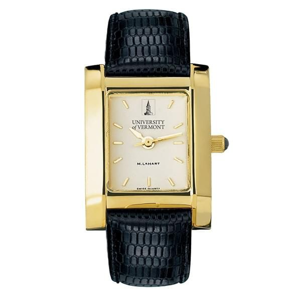 UVM Women's Gold Quad Watch with Leather Strap - Image 2