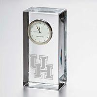 Houston Tall Glass Desk Clock by Simon Pearce