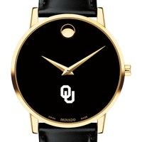 University of Oklahoma Men's Movado Gold Museum Classic Leather