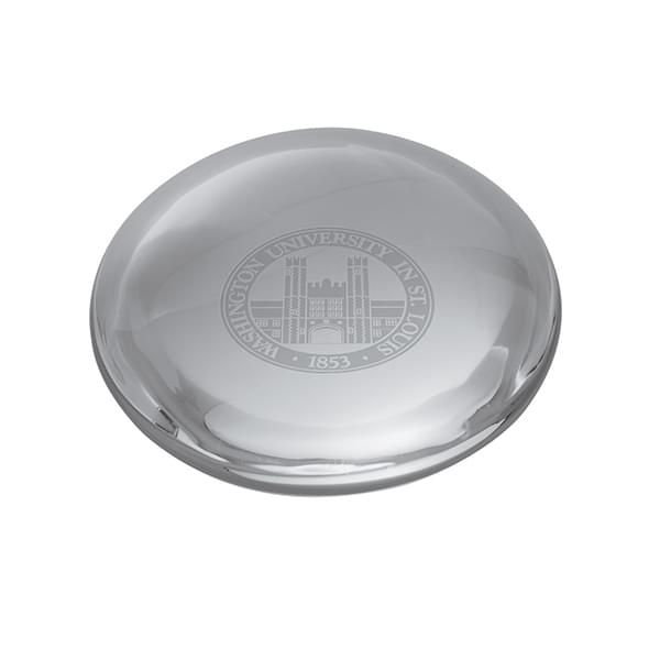 WUSTL Glass Dome Paperweight by Simon Pearce