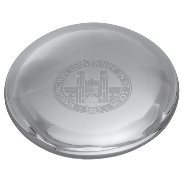 WUSTL Glass Dome Paperweight by Simon Pearce - Image 2