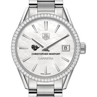Christopher Newport University Women's TAG Heuer Steel Carrera with MOP Dial & Diamond Bezel