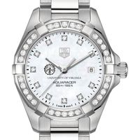 UVA Women's TAG Heuer Steel Aquaracer with MOP Diamond Dial & Diamond Bezel