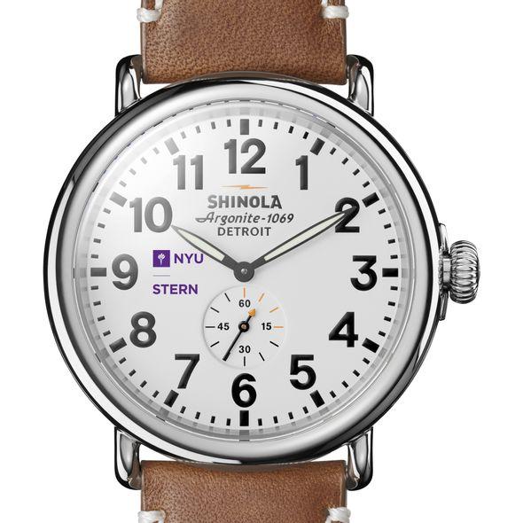NYU Stern Shinola Watch, The Runwell 47mm White Dial