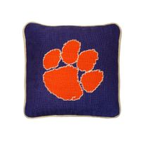 Clemson Handstitched Pillow