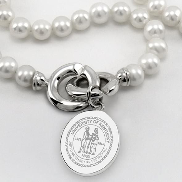 Kentucky Pearl Necklace with Sterling Silver Charm - Image 2