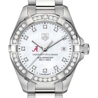 University of Alabama W's TAG Heuer Steel Aquaracer with MOP Dia Dial & Bezel
