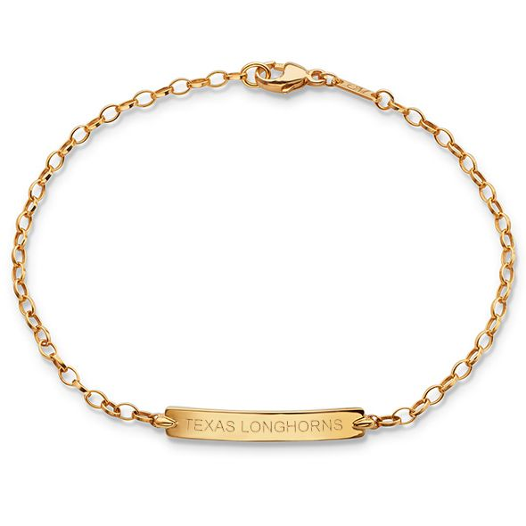 University of Texas Monica Rich Kosann Petite Poessy Bracelet in Gold