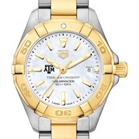 Texas A&M University TAG Heuer Two-Tone Aquaracer for Women