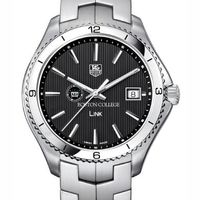 BC TAG Heuer Men's Link Watch with Black Dial