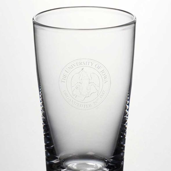 University of Iowa Ascutney Pint Glass by Simon Pearce - Image 2