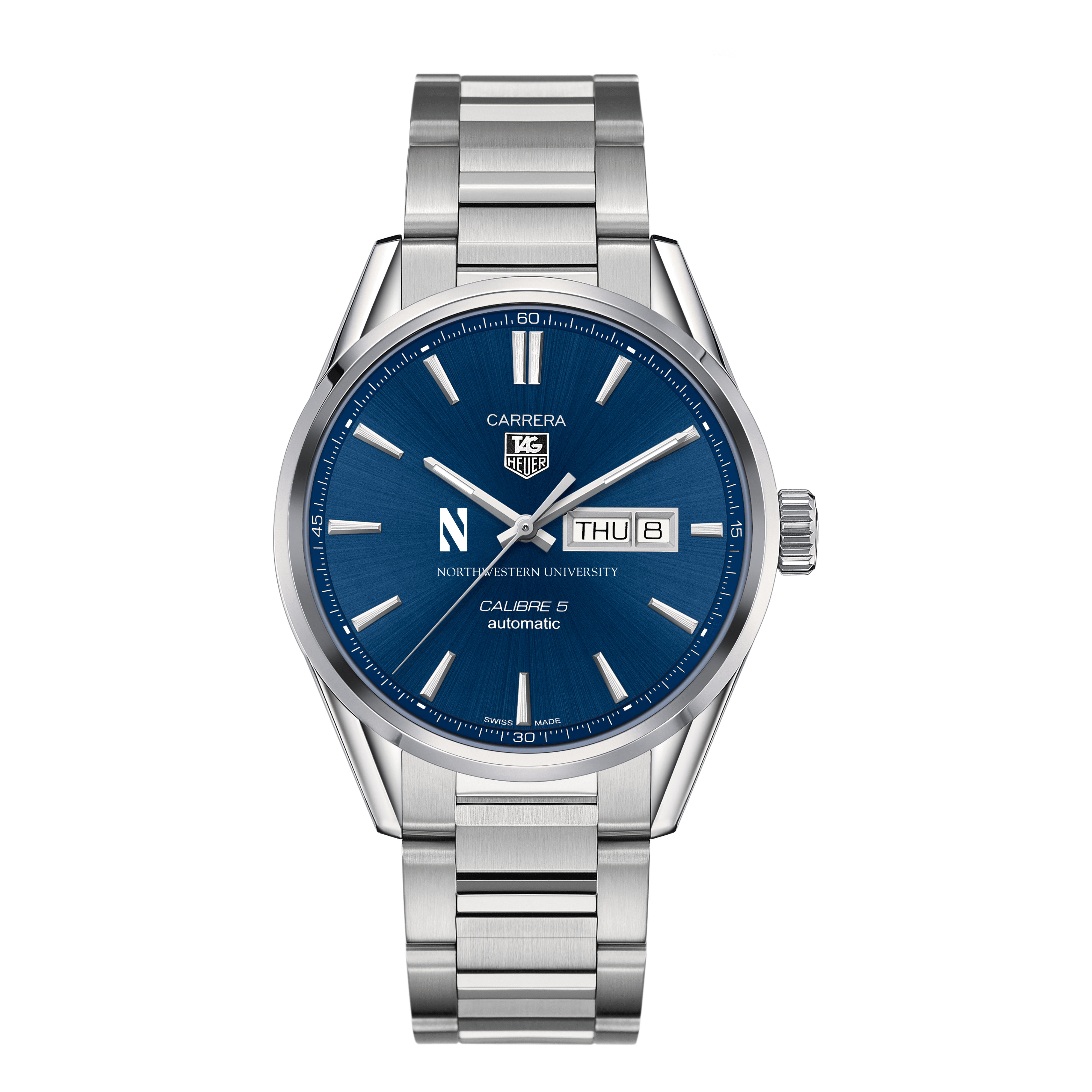 Northwestern University Men's TAG Heuer Carrera with Day-Date - Image 2
