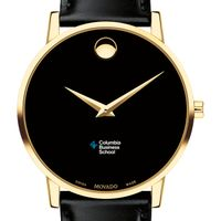 Columbia Business Men's Movado Gold Museum Classic Leather