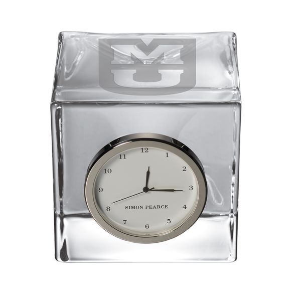 University of Missouri Glass Desk Clock by Simon Pearce