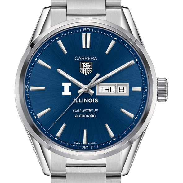 University of Illinois Men's TAG Heuer Carrera with Day-Date