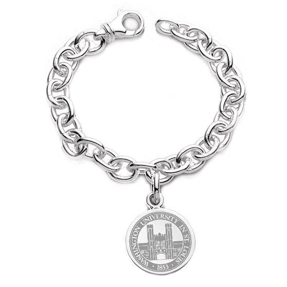 WashU Sterling Silver Charm Bracelet