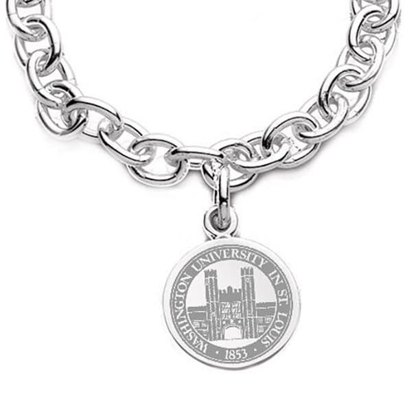 WashU Sterling Silver Charm Bracelet - Image 2