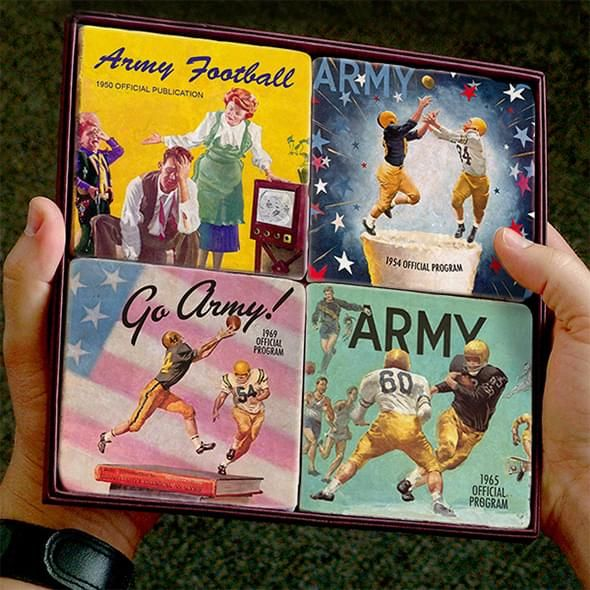 West Point Army Football Marble Coasters - Image 1