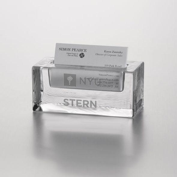 NYU Stern Glass Business Cardholder by Simon Pearce