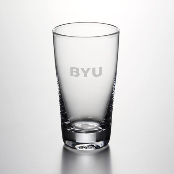 Brigham Young University Ascutney Pint Glass by Simon Pearce