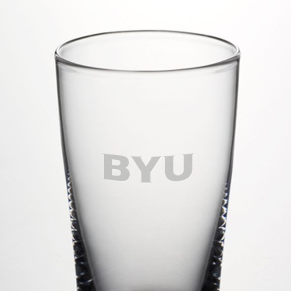 Brigham Young University Ascutney Pint Glass by Simon Pearce - Image 2