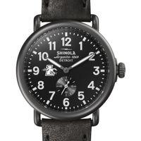 Loyola Shinola Watch, The Runwell 41mm Black Dial