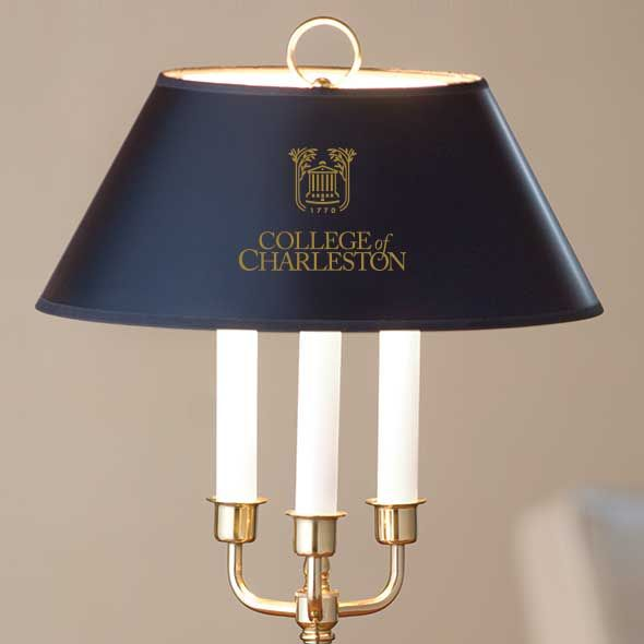 College of Charleston Lamp in Brass & Marble - Image 2