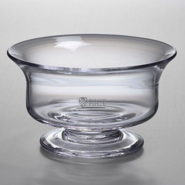 Rice University Simon Pearce Glass Revere Bowl Med