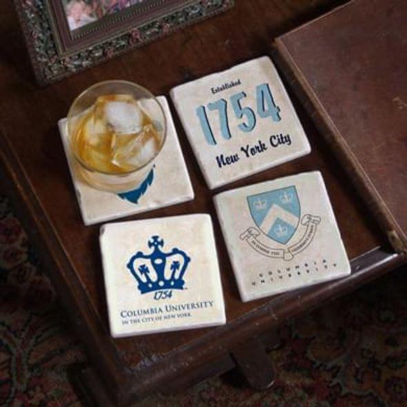 Columbia Logos Marble Coasters