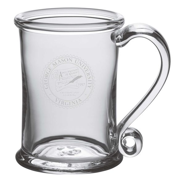 George Mason University Glass Tankard by Simon Pearce
