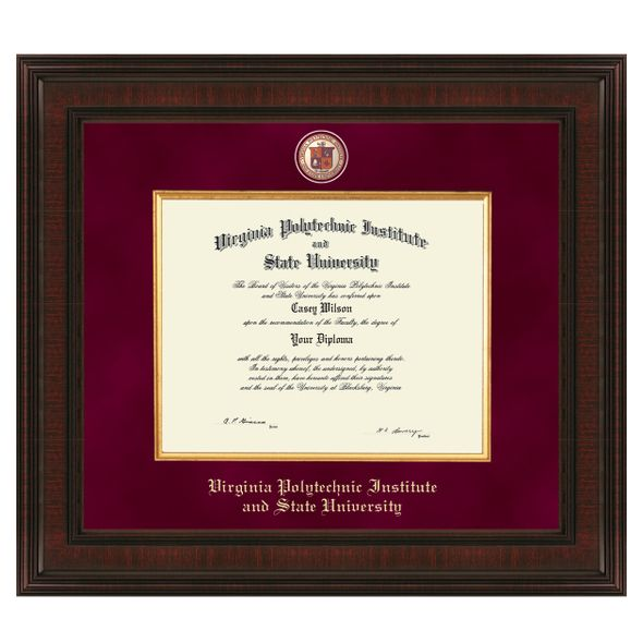 Virginia Tech Excelsior Diploma Frame