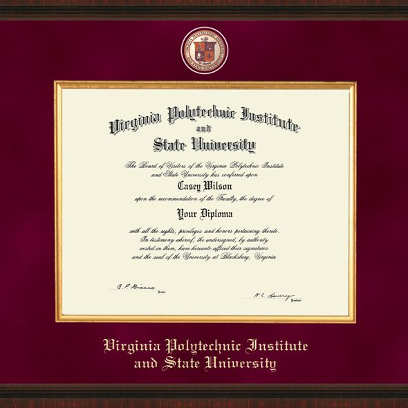 Virginia Tech Excelsior Diploma Frame - Image 2