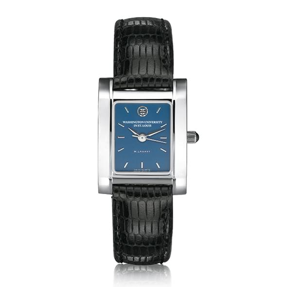 WUSTL Women's Blue Quad Watch with Leather Strap - Image 2