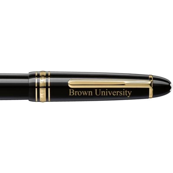 Brown University Montblanc Meisterstück LeGrand Rollerball Pen in Gold - Image 2