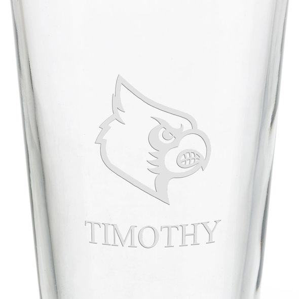 University of Louisville 16 oz Pint Glass - Image 3