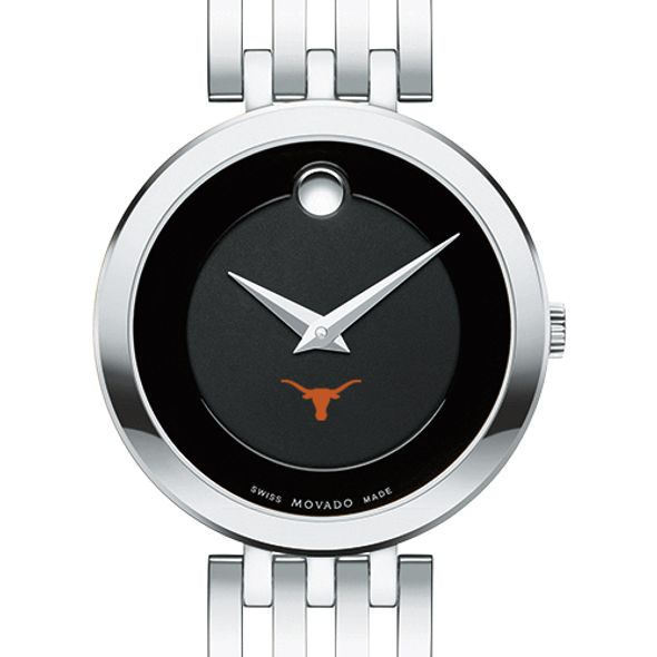 University of Texas Women's Movado Esparanza Stainless Steel Museum with Bracelet