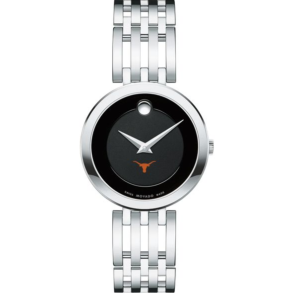 University of Texas Women's Movado Esparanza Stainless Steel Museum with Bracelet - Image 2